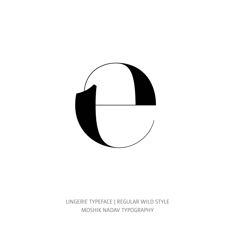 Lingerie Typeface Regular Wild e