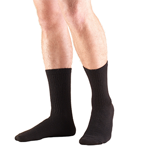 TruSoft Crew Length Socks in Black