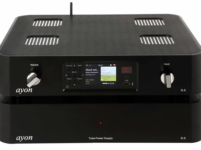 AYON AUDIO S-5 ULTIMATE TUBE MEDIA PLAYER AWARDED PRODUCT OF THE YEAR