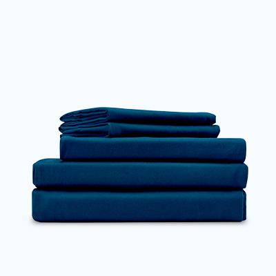 sleep zone bedding duvet cover set blue folded roll