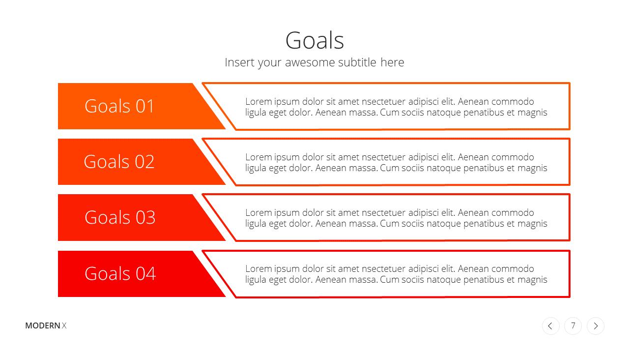 Modern X Project Proposal Presentation Template Goals