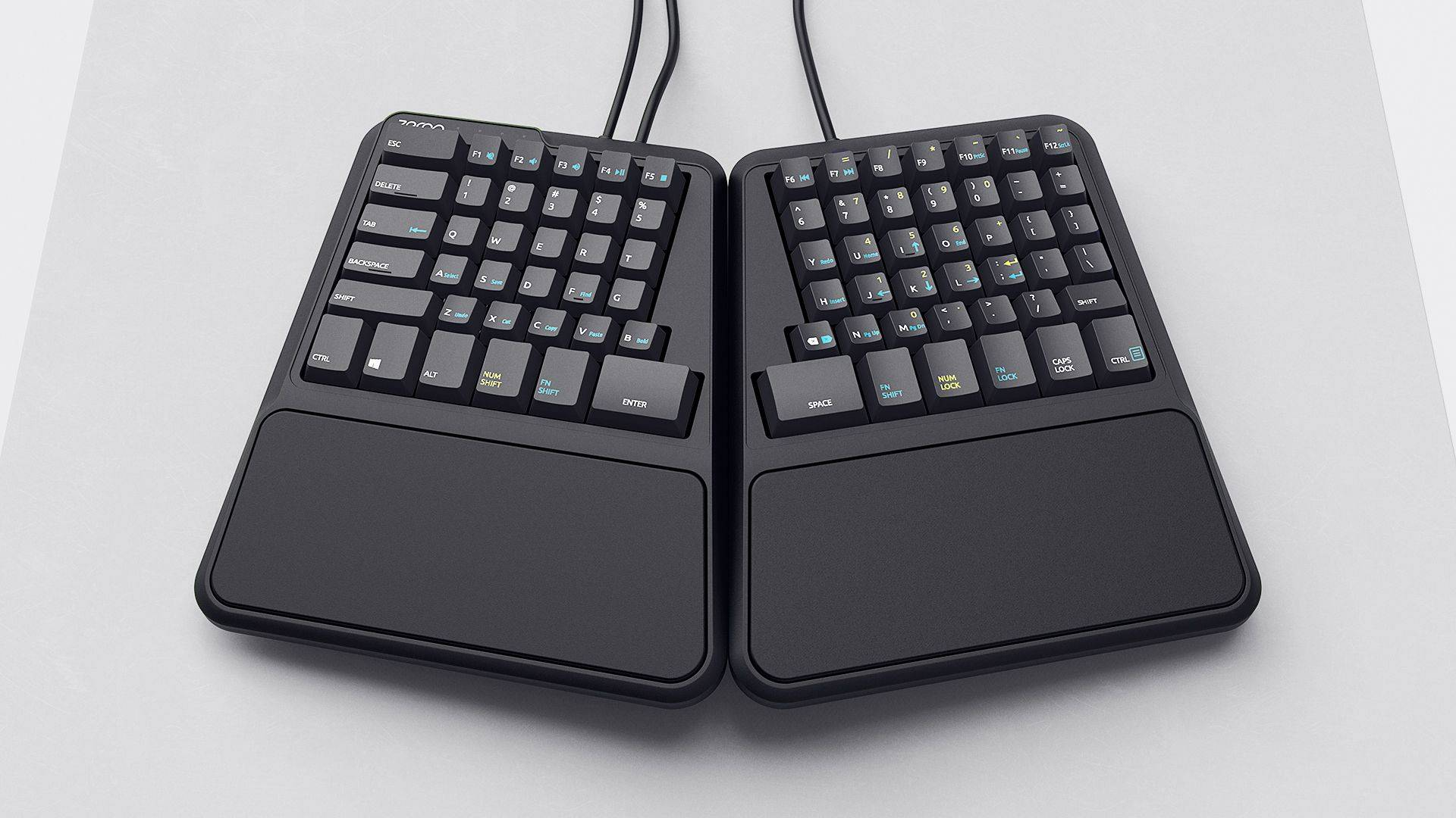 top joined view of mechanical keyboard