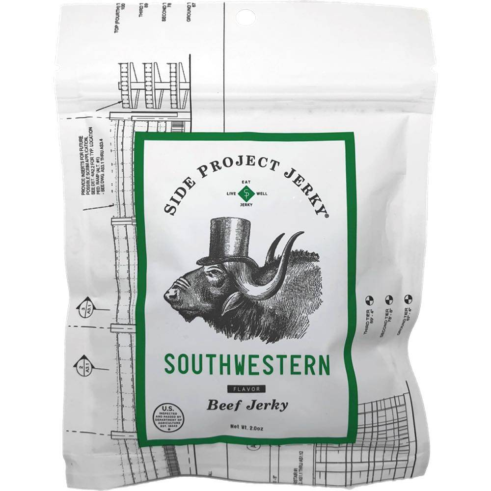 Side Project Jerky Southwestern Beef Jerky - Green Chile Beef Jerky