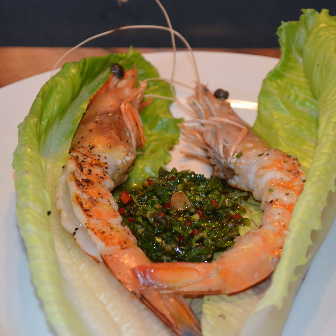 Date: 23 Apr 2020 (Thu) 3rd Appetizer: Barbecued Prawns with Salsa Verde [316] [157.5%] [Score: 10.0] Cuisine: Western Dish Type: Appetizer