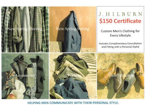 J. Hilburn $150 Gift Certificate