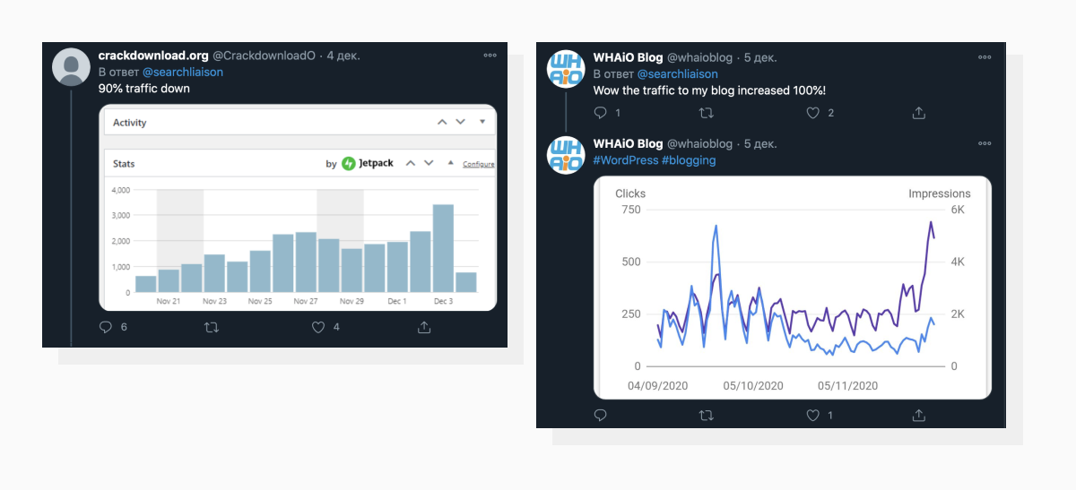 Twitter users confirmed drastic traffic fluctuations in both directions
