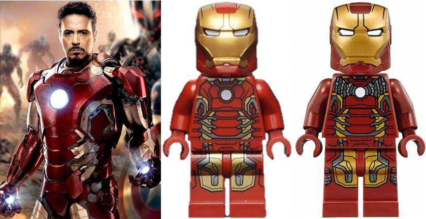 Man Mk43 Minifigure vs movie
