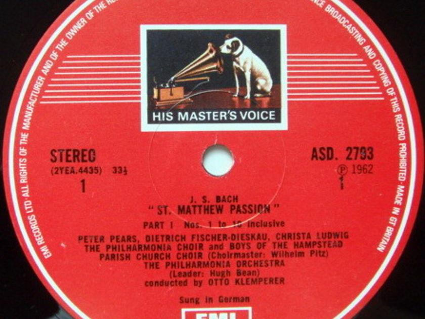 EMI HMV STAMP-DOG / KLEMPERER, - Bach St. Matthew Passion, MINT, 4LP Box Set!
