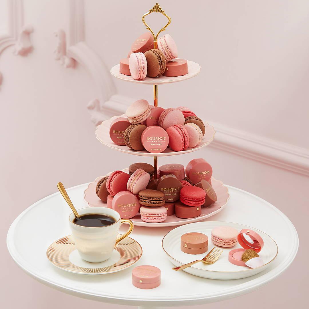 tea time petites boites rondes blush