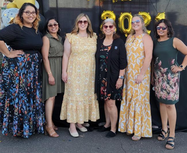 Left to Right: Ms. Sonal, Ms. Neeta, Ms. Kassie, Ms. Soto, Ms. Brooke, Ms. Malini