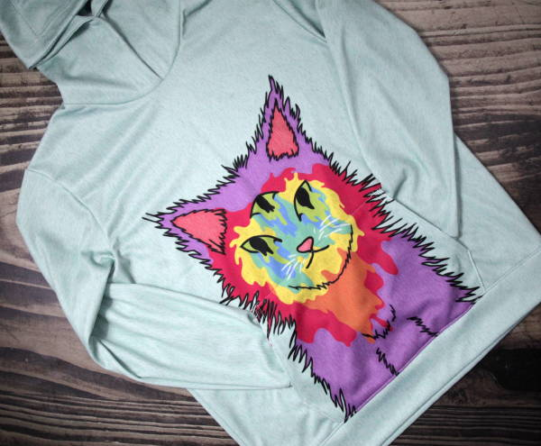 Custom Wholesale Activewear - Dye Sublimation Cut and Sew - 3rd Eye Kitty Hoodie