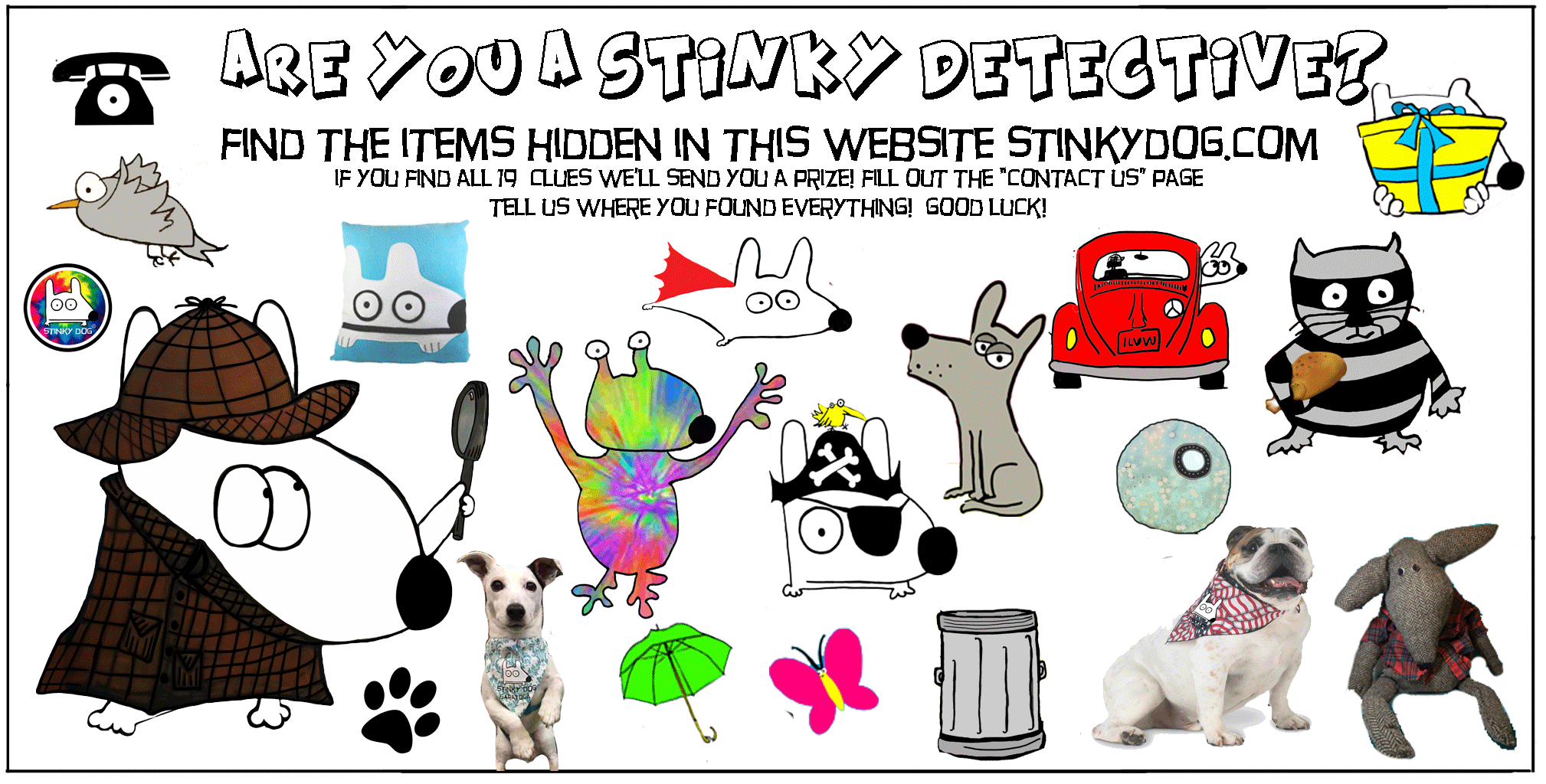 solve the mystery scavenger hunt with the stinky detective