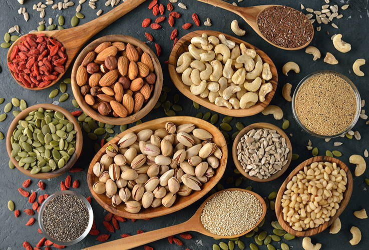Nuts & seeds are full of beneficial phytoestrogens