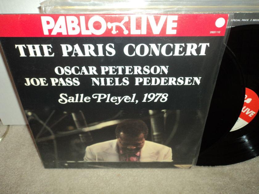 """Oscar Peterson, Joe Pass, Niels Pedersen - The Paris Concert """"Salle Pleyel"""" 1978 2LPs Pablo NM"""