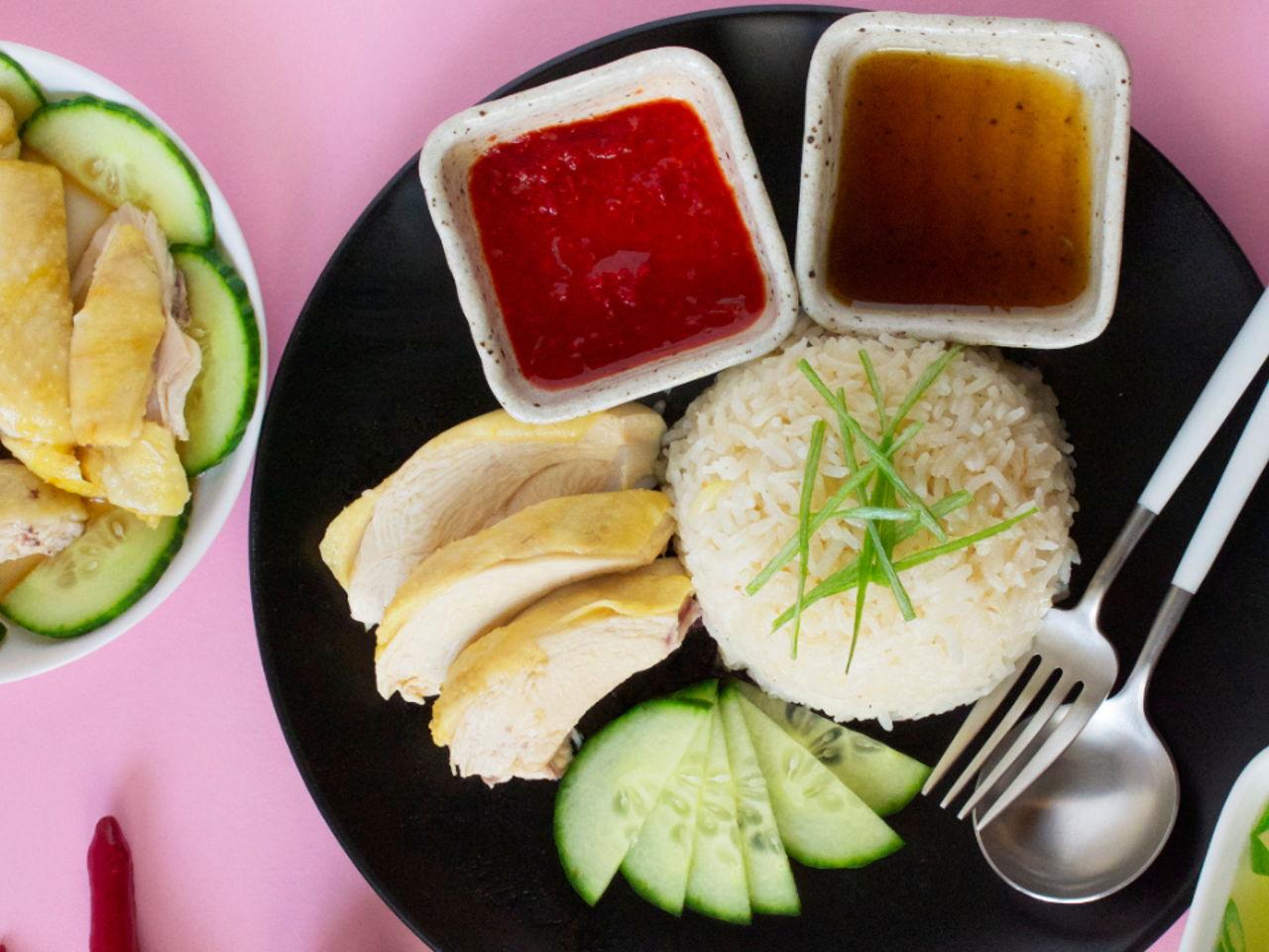 Hainanese Chicken Rice Southeast Asian Recipes Nyonya Cooking
