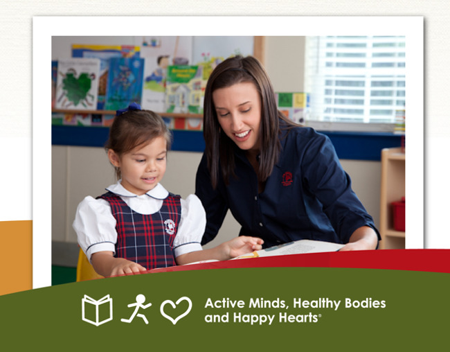We're hiring poster featuring a Primrose teacher interacting with her student