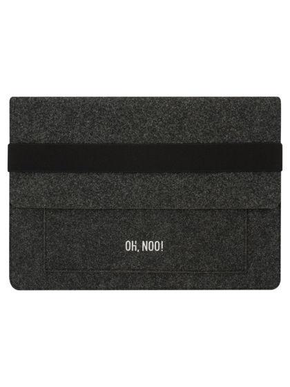 Чехол из фетра для MacBook и ноутбуков, черный, горизонтальный с крышкой