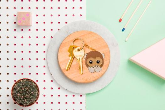 Брелок эмоджи с обезьянкой DOIY Emoji Keyring - Monkey