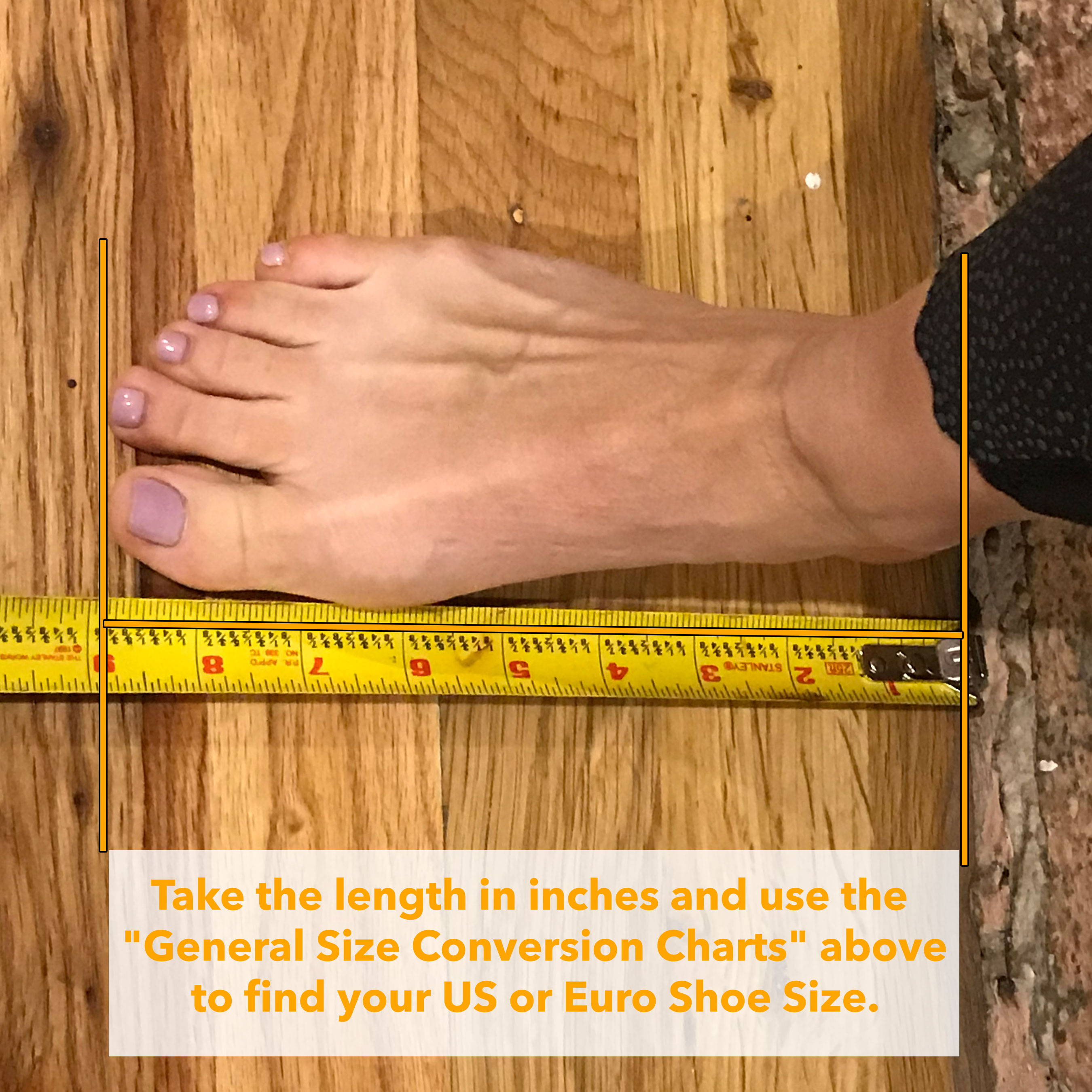 How to measure your foot from home step 2