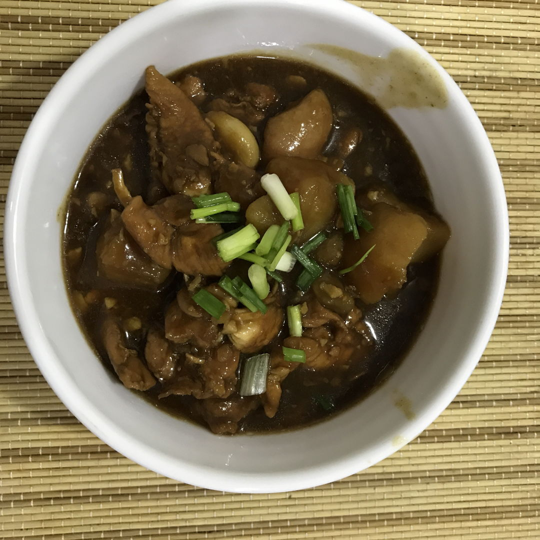 Cooked without Tao pok. But with cinnamon and star anise, the dish is so fragrant and Tasty and goes well with a bowl of piping hot rice ! Thanks Grace for the recipe!