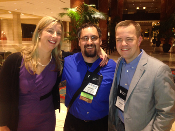 Martine Weinhold, Mike Kitces and Aaron Klein at the Cloud Party