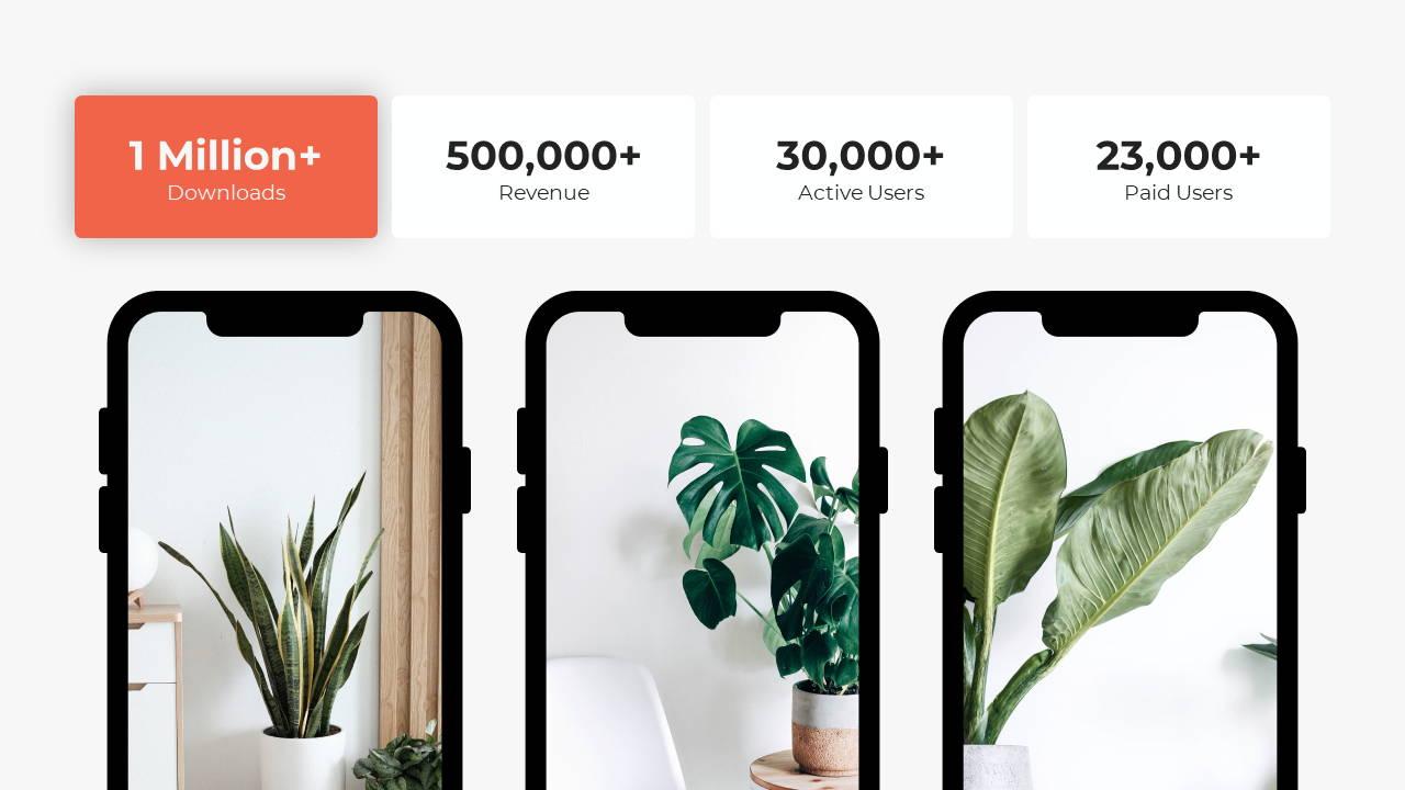 Modern X App/Software Showcase Presentation Template Smartphone Features