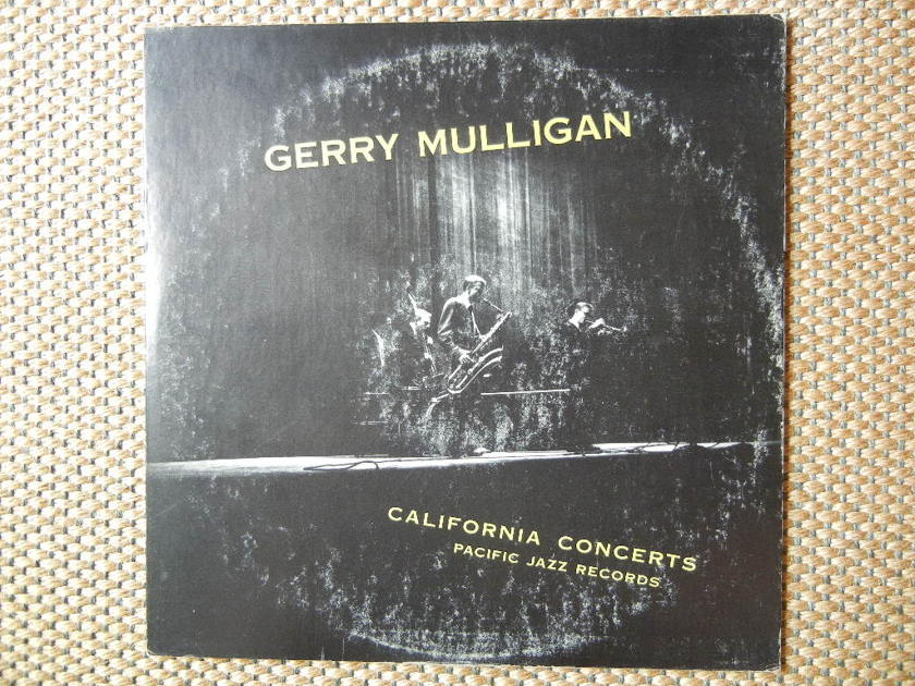 GERRY MULLIGAN/ - CALIFORNIA CONCERTS OR JAZZ GOES TO HIGH SCHOOL/ Pacific Jazz Records HI FI PJ-1201