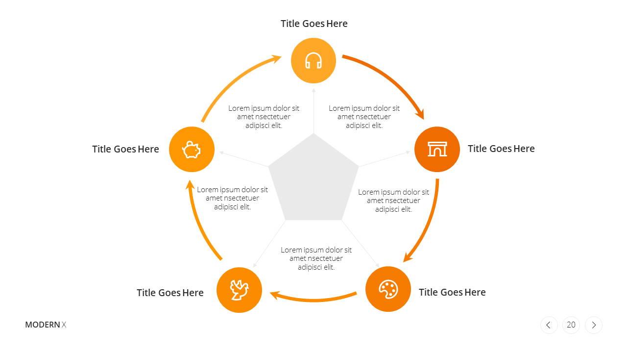Modern X Presentation Template Business Plan Growth Strategy