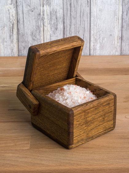 """Коробочка из светлого дуба для хранения """"Кубик"""""""