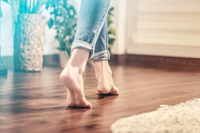 Avoid Walking Barefoot