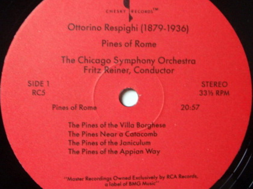 ★Audiophile★ Chesky / REINER, - Respighi Pines-Fountains of Rome, NM(OOP)!