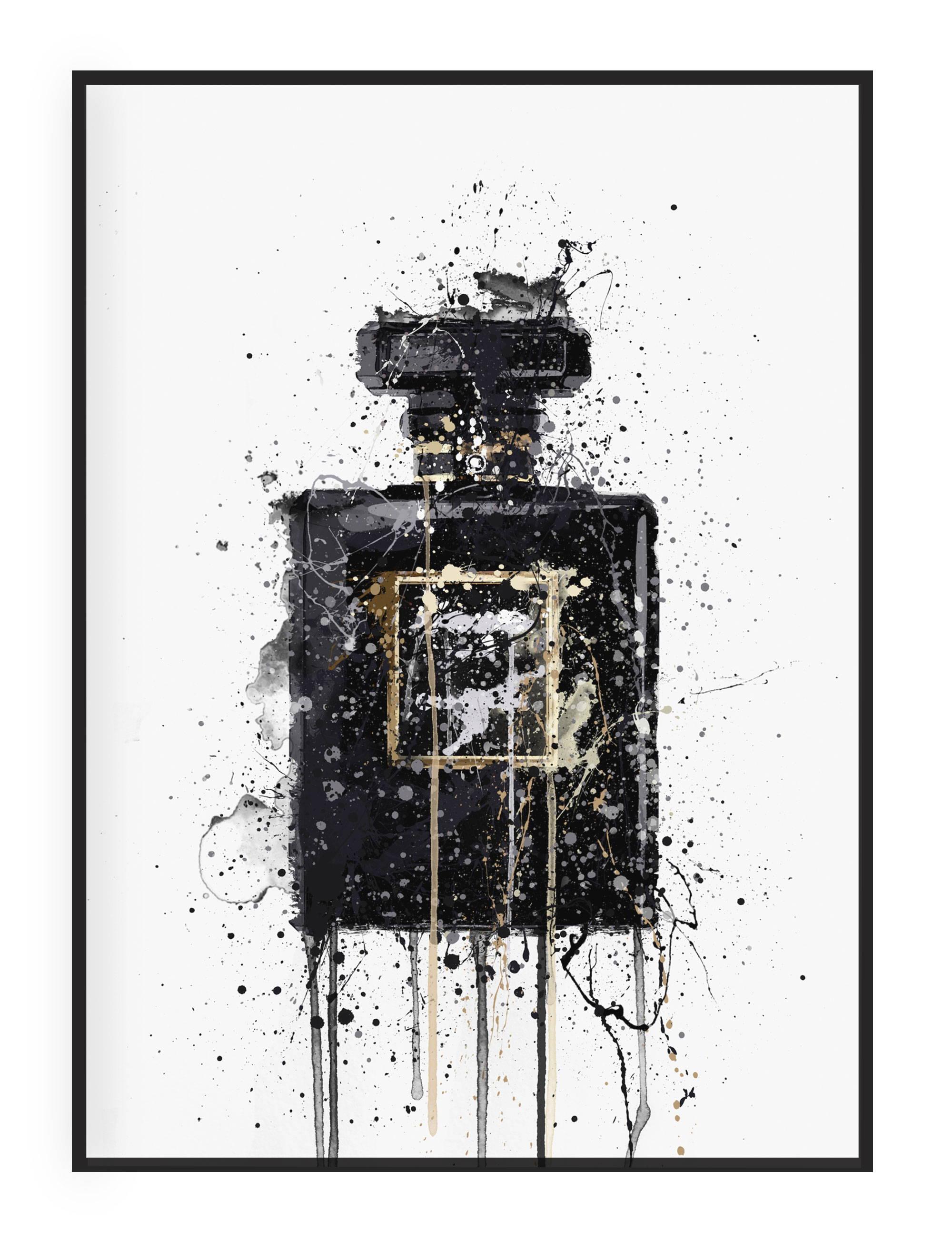 Perfume Bottle Wall Art Print Illustration