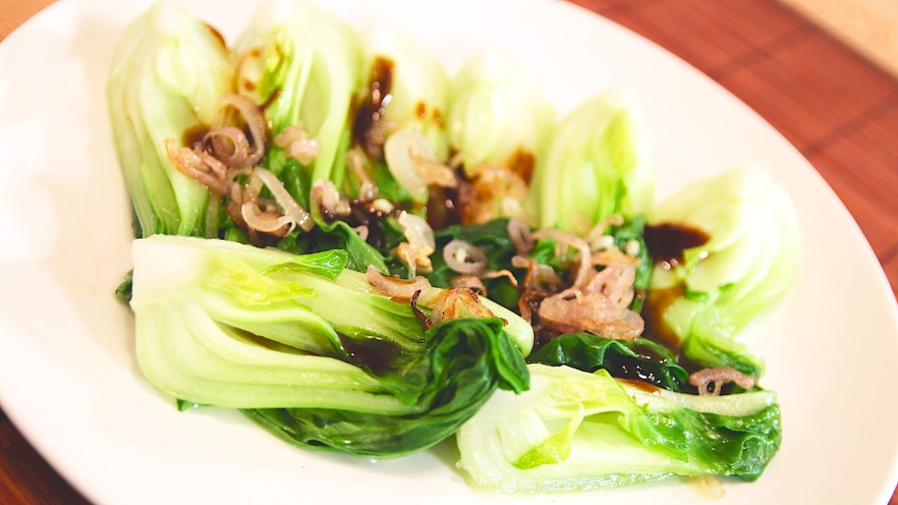 Baby Pak Choi with Oyster Sauce