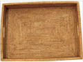 Large Rectangle Rattan Tray