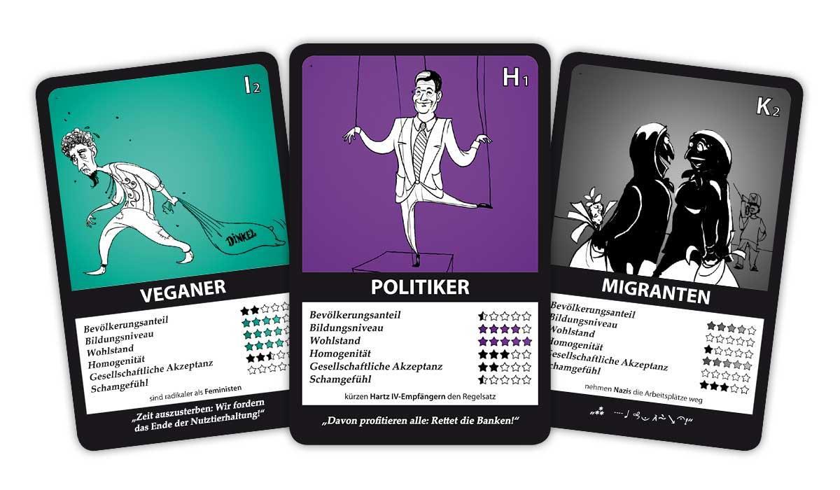 Minderheiten-Quartett 2 Karten