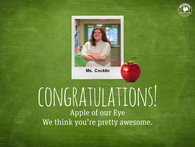 Congratulations on being our July Apple of our Eye!
