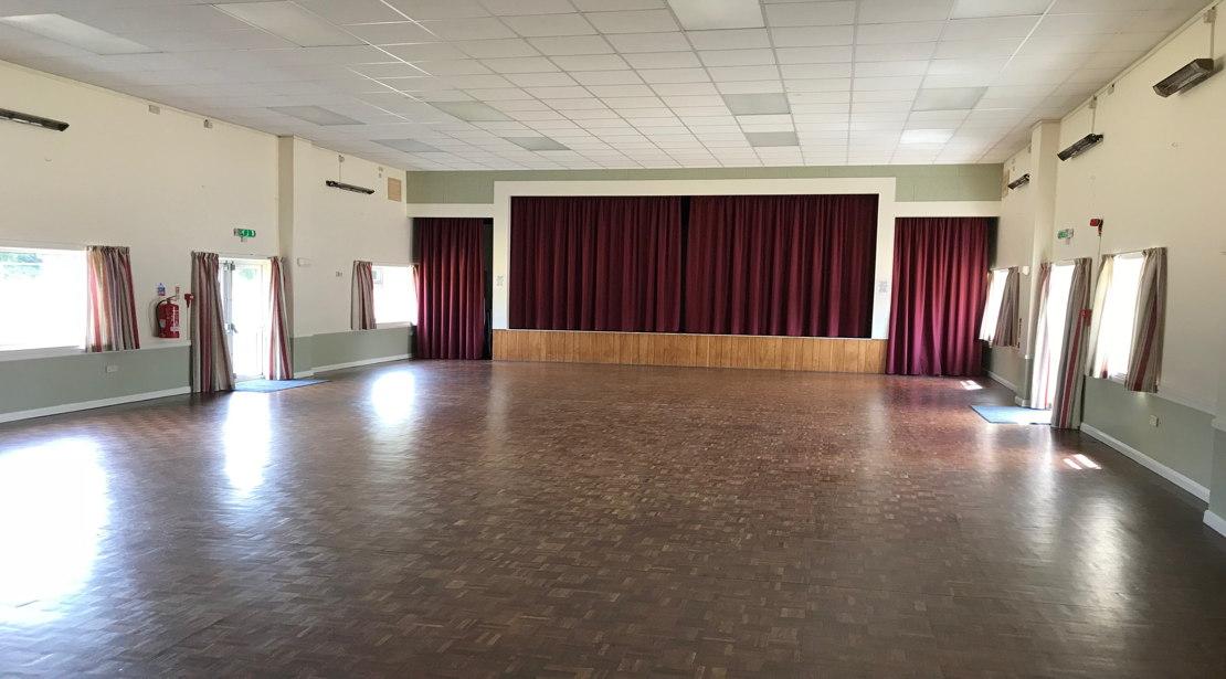 Main hall & theatre stage