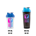 Picture showing CLASSIC Shaker Cup Sizes, PERFORMA Custom USA