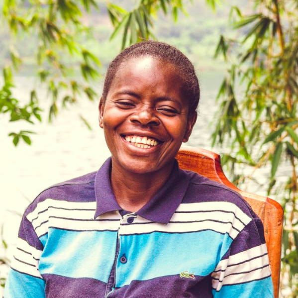 Congolese farmer smiling