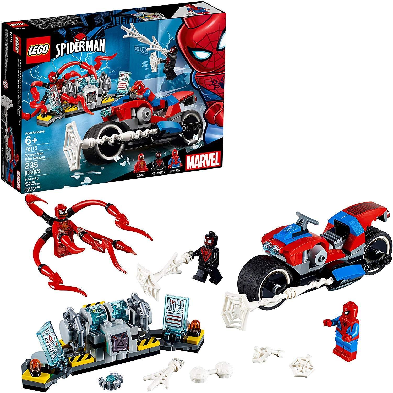 lego spider man bike rerscue