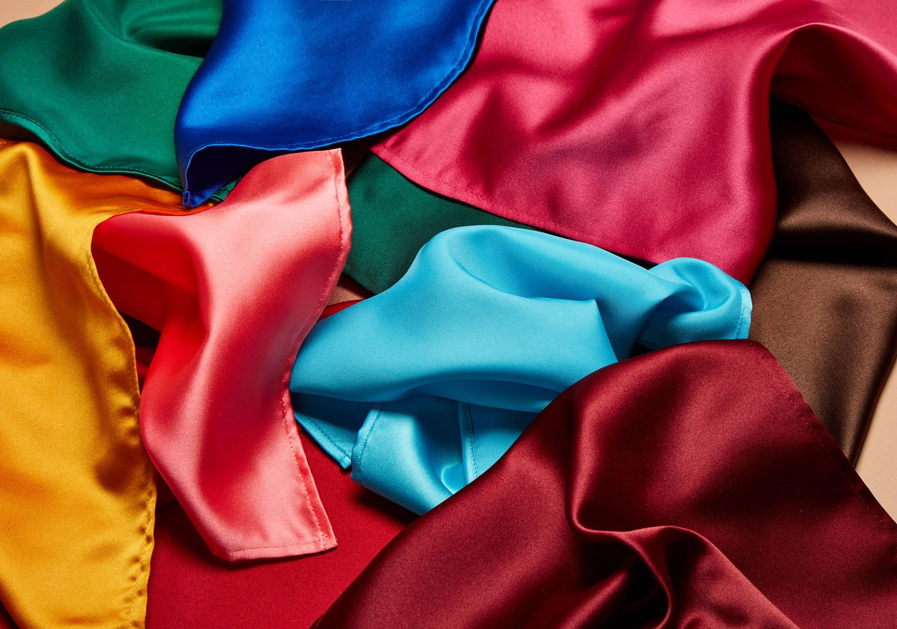 Vibrant colourful pocket squares