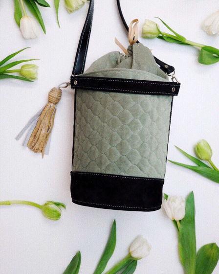 Лимитированная сумка «Цилиндр» из прочной ткани и нубука