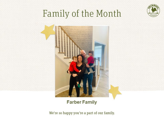 October Family of the Month - family appreciation