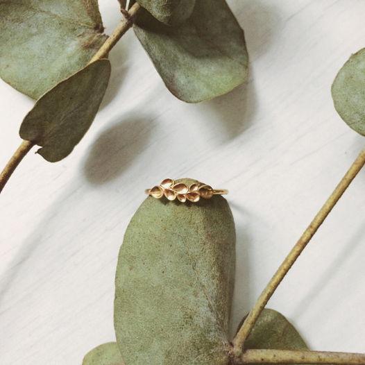 Кольцо 'Nature' серебро с позолотой