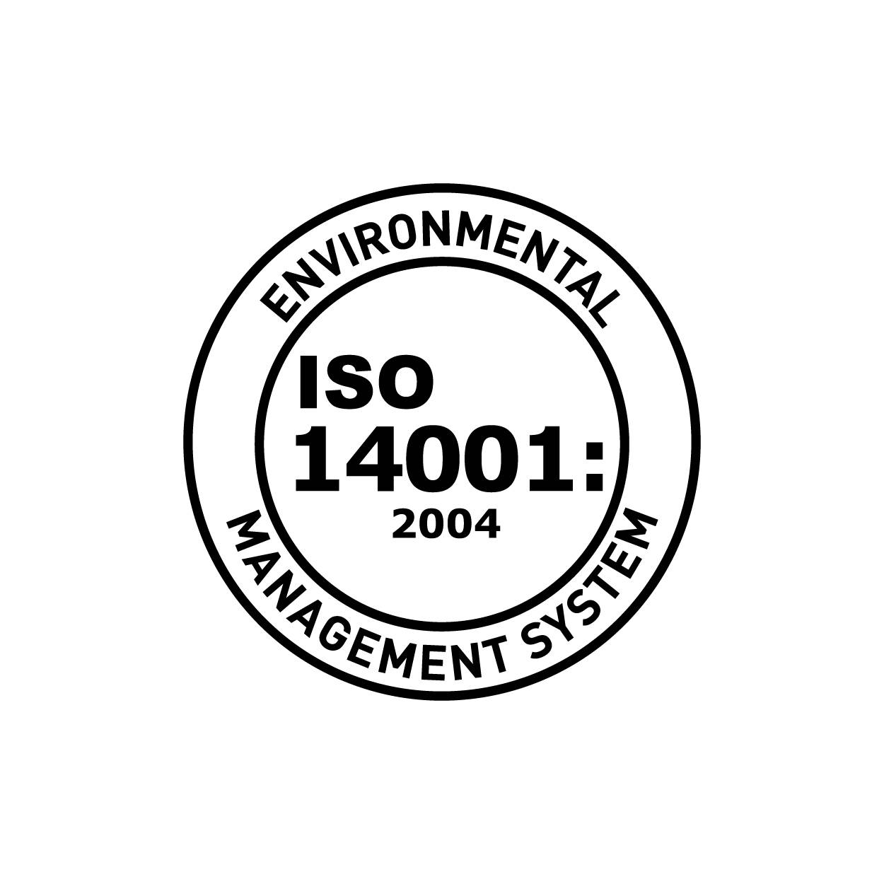 ISO 14001 Certified Environmental Management logo