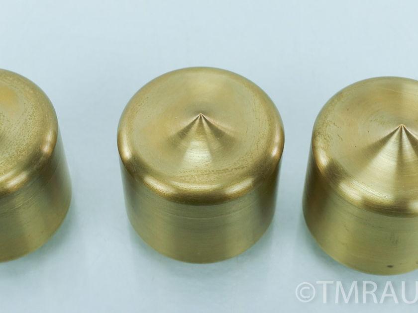 "Mapleshade Threaded Heavyfoot v.3 Brass Feet  (Set of 3) 2"" h (8948)"