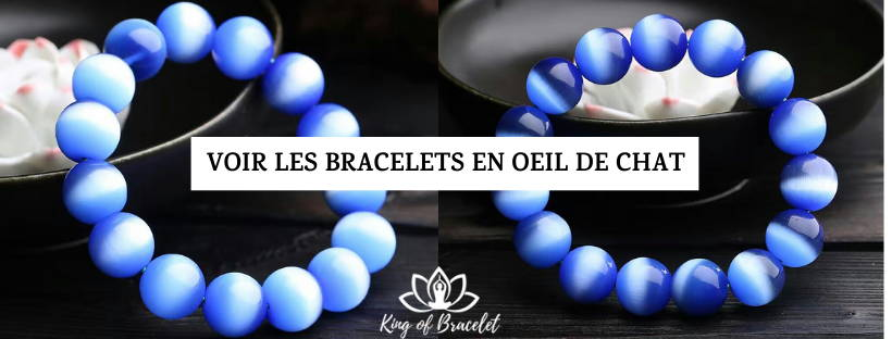 Bracelet Oeil de Chat Bleu - King of Bracelet