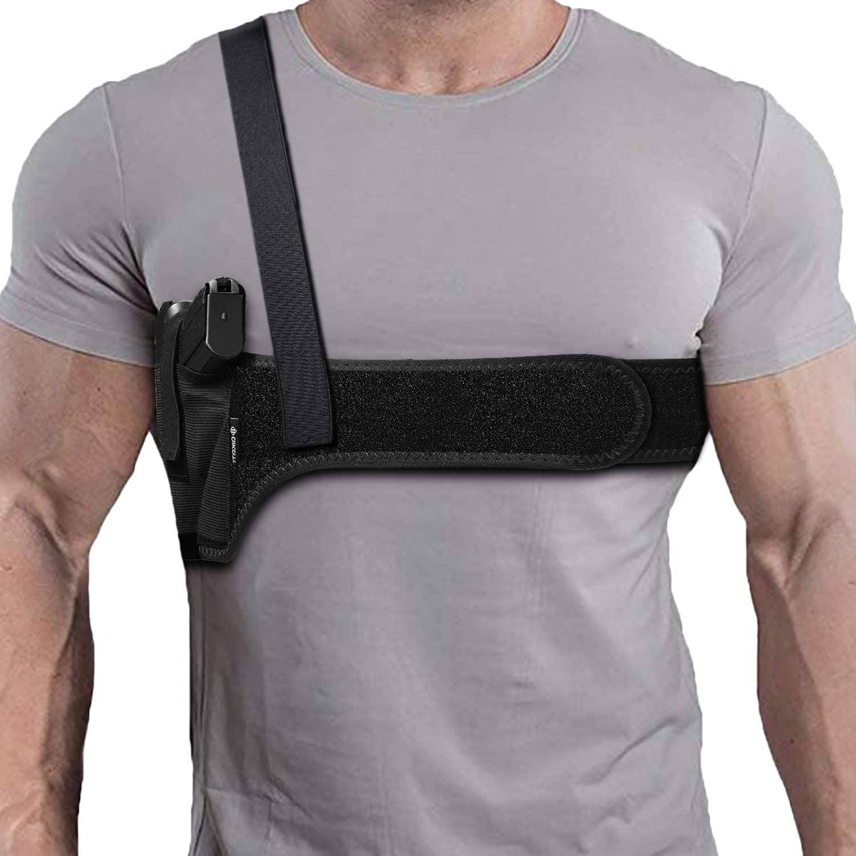 Dinosaurized | Praetorian shoulder & Belly holster |  shoulder holster revolver | shoulder holster for revolver | shoulder holster for concealed carry shoulder gun holster | Best holster for seated draw | Best holster for drivers