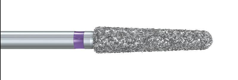 850XC Deep Purple™ Tapered Chamfer Diamond Preparation Bur