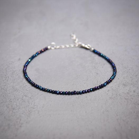 Браслет из синей шпинели с серебром